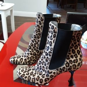 DOLCE & GABBANA PONY HAIR BOOTIES 38